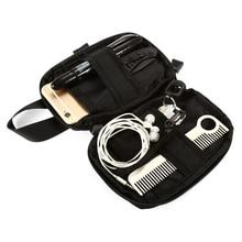 טקטי Molle תיק EDC איפור אחסון פאוץ ספורט ציד חבילת חגורת תיק