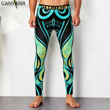 Pantalones deportivos tipo leggings GANYANR para correr para hombre, pantalones deportivos tipo leggings de yoga, baloncesto, Fitness, compresión, gimnasio, culturismo, atlético, Jogging Sexy Gay