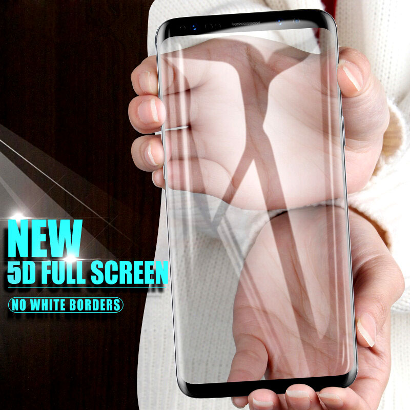 5D Curved Tempered Glass For Samsung Galaxy A8 A7 A5 A3 2017 2018 Case For Samung J7 J5 J3 2017 Pro Prime Protective Film A530