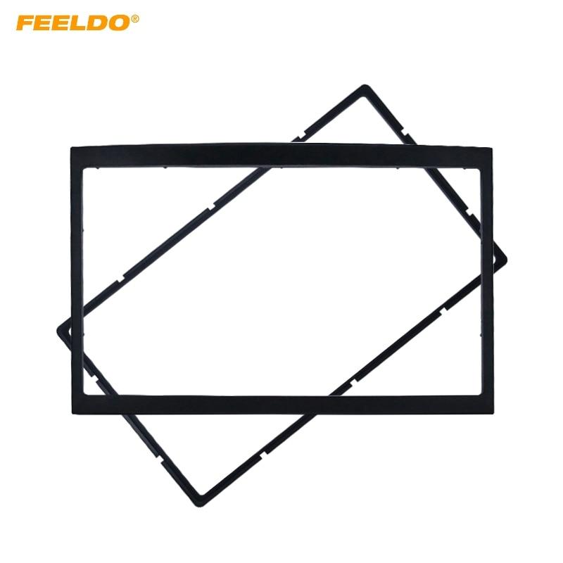 FEELDO Car Refitting Stereo DVD Frame Fascia Dash Panel Installation Kits For PEUGEOT 307(01~08) 2DIN Radio DVD Stereo Mounting