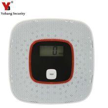 Yobang безопасности CO детектор домашней безопасности сигнализация ЖК-дисплей фотоэлектрический CO датчик газа детектор угарного газа