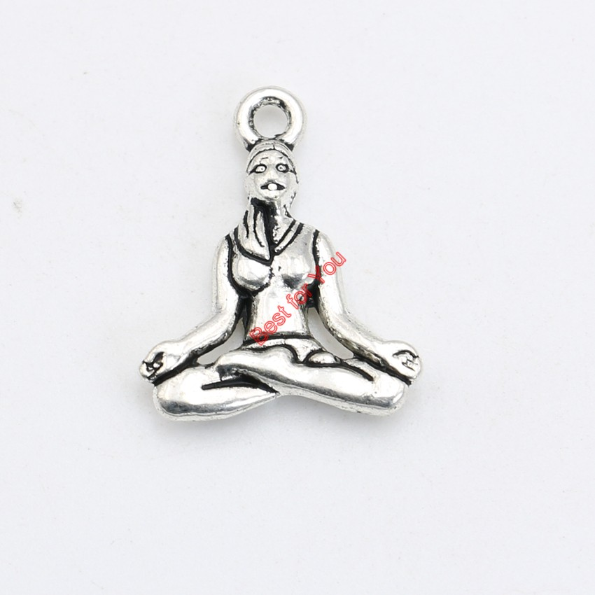 30pcs antique silver plated yoga charms pendants bracelet necklace 30pcs antique silver plated yoga charms pendants bracelet necklace jewelry making accessories diy 20x16mm in charms from jewelry accessories on mozeypictures Images
