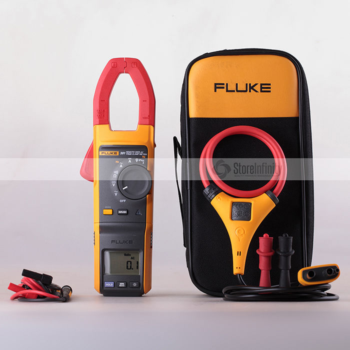 Fluke 381 Remote Display True-rms Clamp Meter iFlex тестер напряжения fluke cnx i3000 iflex комплект