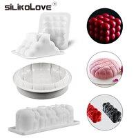 SILIKOLOVE 3Pcs Silicone Cake Mold Pan For Baking New Design Chocolate Sponge Cakes Mousse Dessert Cake