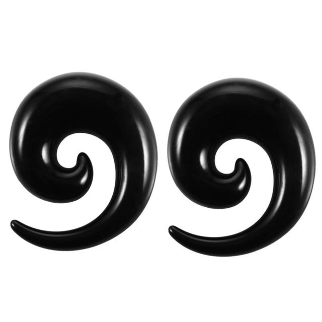 2pcs/lot Acrylic Spiral Ear...