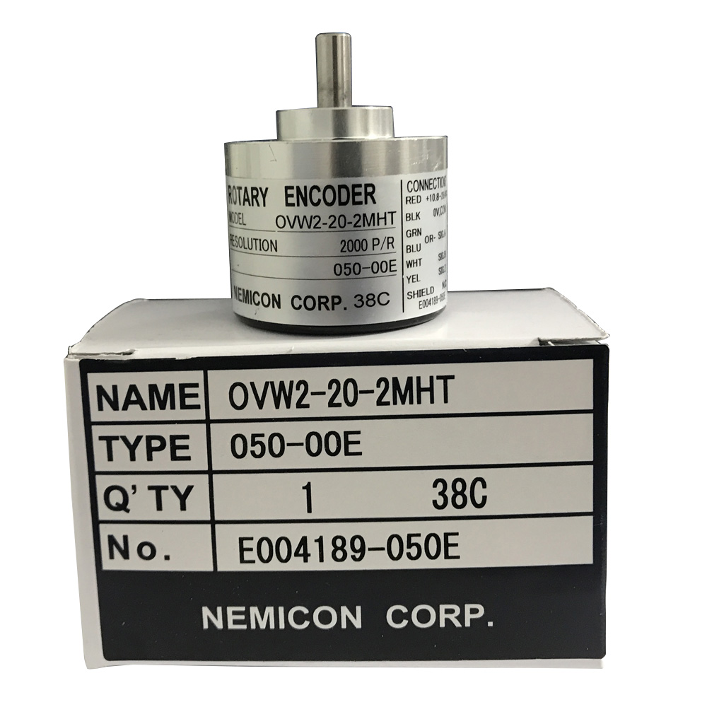 Stock 6mm shaft optical sensor OVW2-20-2MHT 2MHC 2MD 2000 pulse solid shaft rotary encoder original encoder