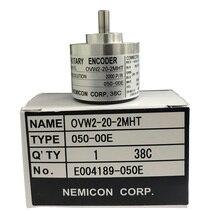 цена на Stock 6mm shaft optical sensor OVW2-20-2MHT 2MHC 2MD 2000 pulse solid shaft rotary encoder original encoder