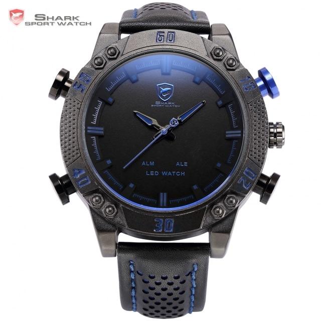 8c1c048905a2 Kitefin shark reloj deportivo azul led luz trasera auto fecha display  digital al aire libre de