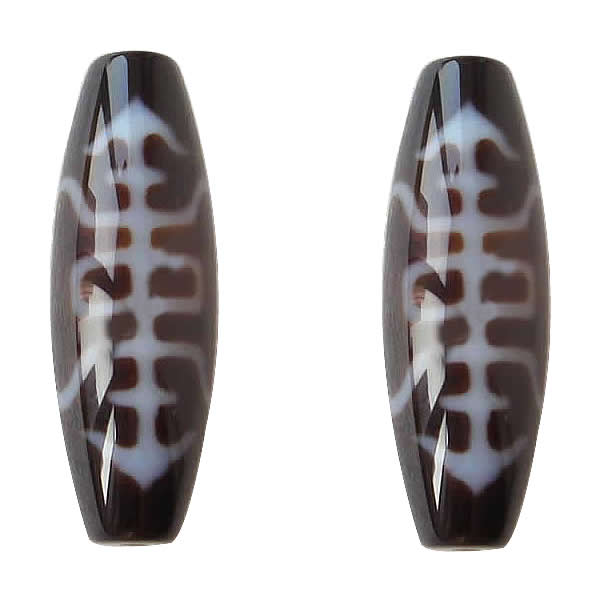 цены на YYW Natural Tibetan Agata Dzi Beads New Brand Oval Shaped Two Tone Grade AAA 12x38mm Jewelry Accessories DIY Making Stone Beads в интернет-магазинах