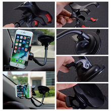 Universal Car Holder Cell Phone Holder For Iphone 7  6s plus SE Stand Support for Samsung Flexible Mobile Phone Holder For Sony