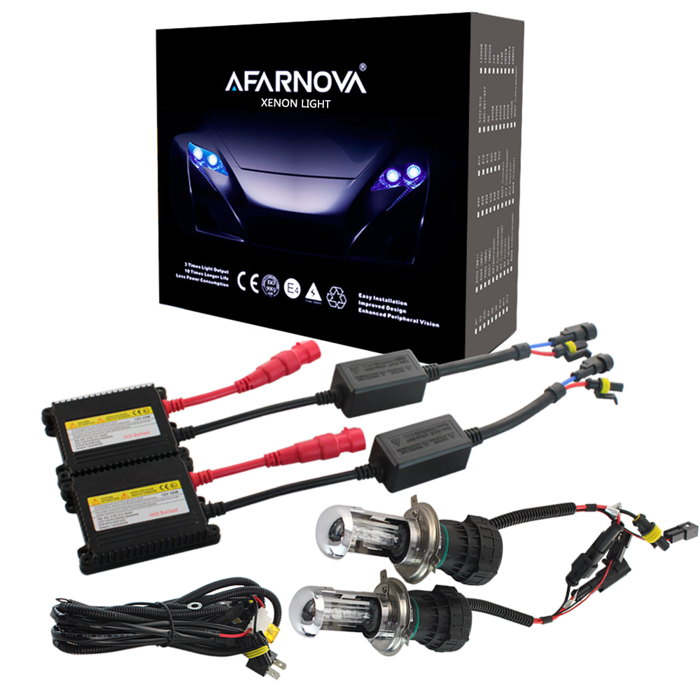 цена на Xenon H7 35W AC Slim Ballast kit HID Xenon Headlight bulb 12V H1 H3 H11 h7 xenon hid kit 4300k 6000k Replace Halogen Lamp