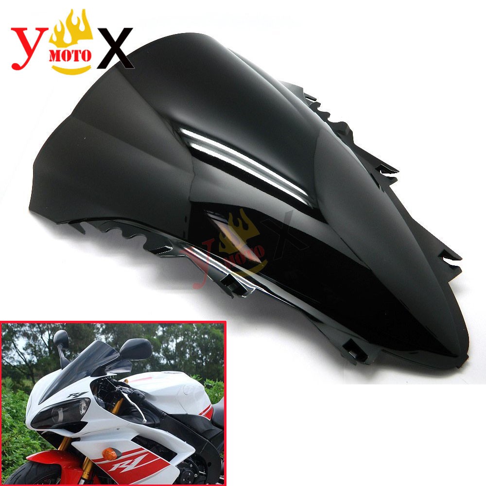 YZF-R1 07-08 Black Sport Bike Motorcycle ABS Windscreen Windshield Double Bubble Deflector For Yamaha YZF 1000 R1 2007 2008YZF-R1 07-08 Black Sport Bike Motorcycle ABS Windscreen Windshield Double Bubble Deflector For Yamaha YZF 1000 R1 2007 2008