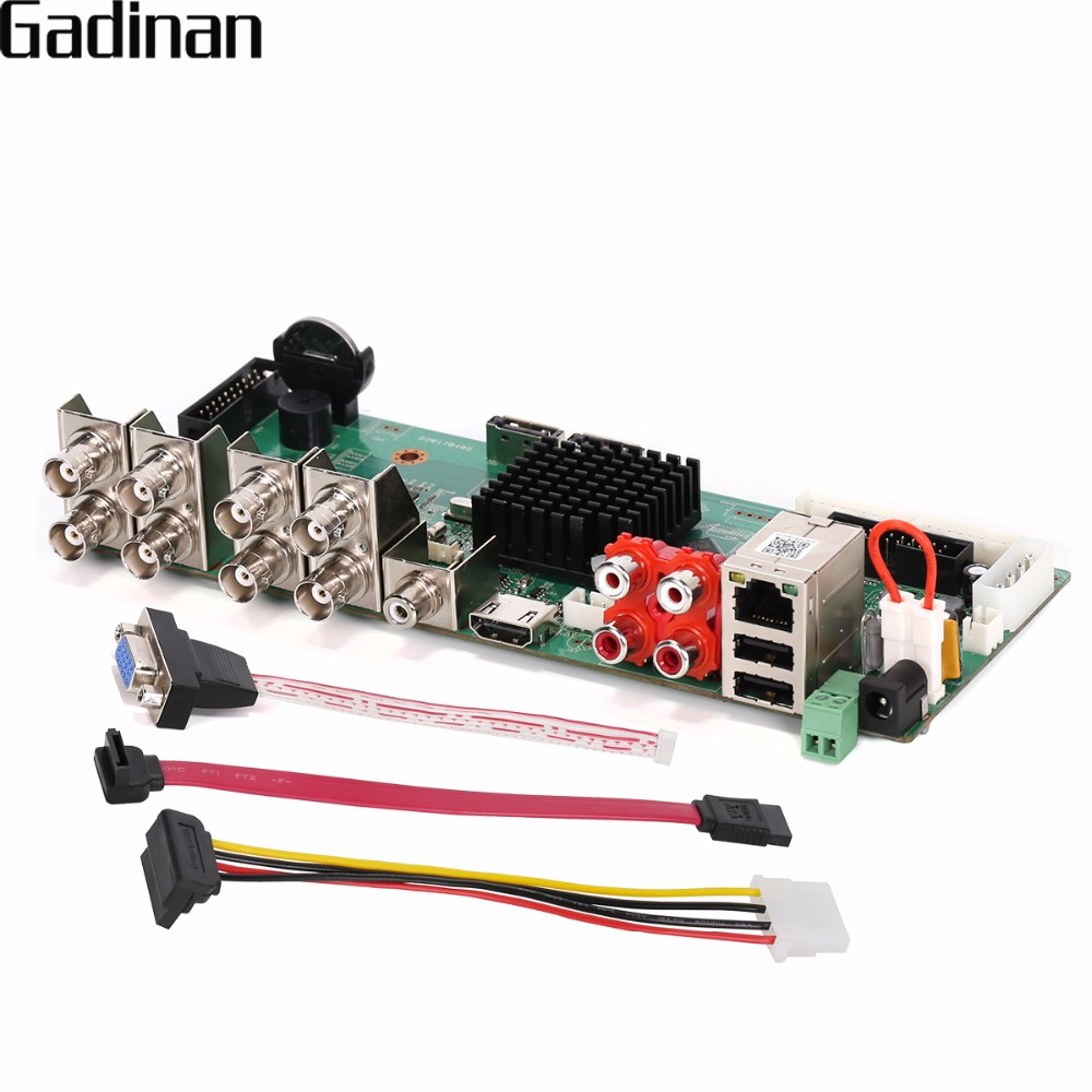 GADINAN AHD DVR Board 8CH 1080P Real Time CCTV H.264 AHD/CVI/CVI  Hybrid 5 in 1 NVR DVR DIY BORAD with HDD Cable real cable ott60 1m20