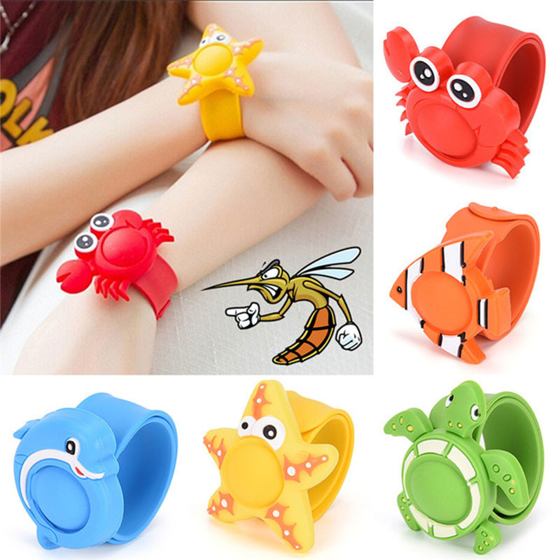 For Baby Anti Mosquito Killer Wristband Reusable 5 Pattern Cartoon Silicone Mosquito Killer Outdoor Repellent Bracelet