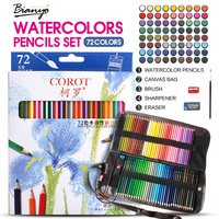 Bianyo 48 Colors Pencil Non Toxic Water Soluble Colored Pencil School Supplies Painting Pencils