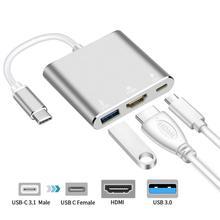 USB C концентратор к HDMI адаптер usb type C концентратор к HDMI 4 к USB 3,0 порт USB-C мощность доставка для Macbook Pro/Air Thunderbolt 3