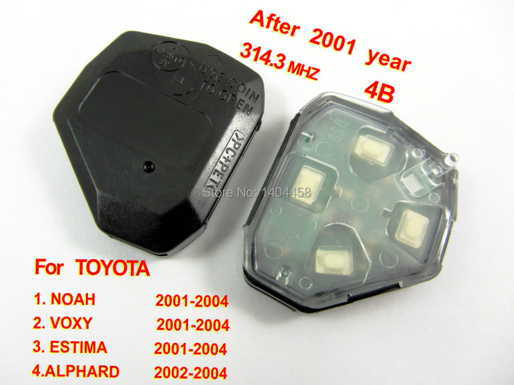 Wholesale,car alarm, remote interior 314.3MHZ 4 button (Use for after 2001) for Toyota,car key,free shipping