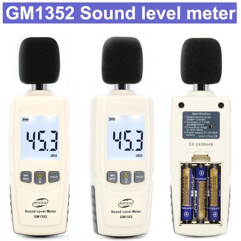 GM1352 Mini Sound Level Meters Decibel Meter Logger Noise Audio Detector Digital Diagnostic-tool Automotive Microphone