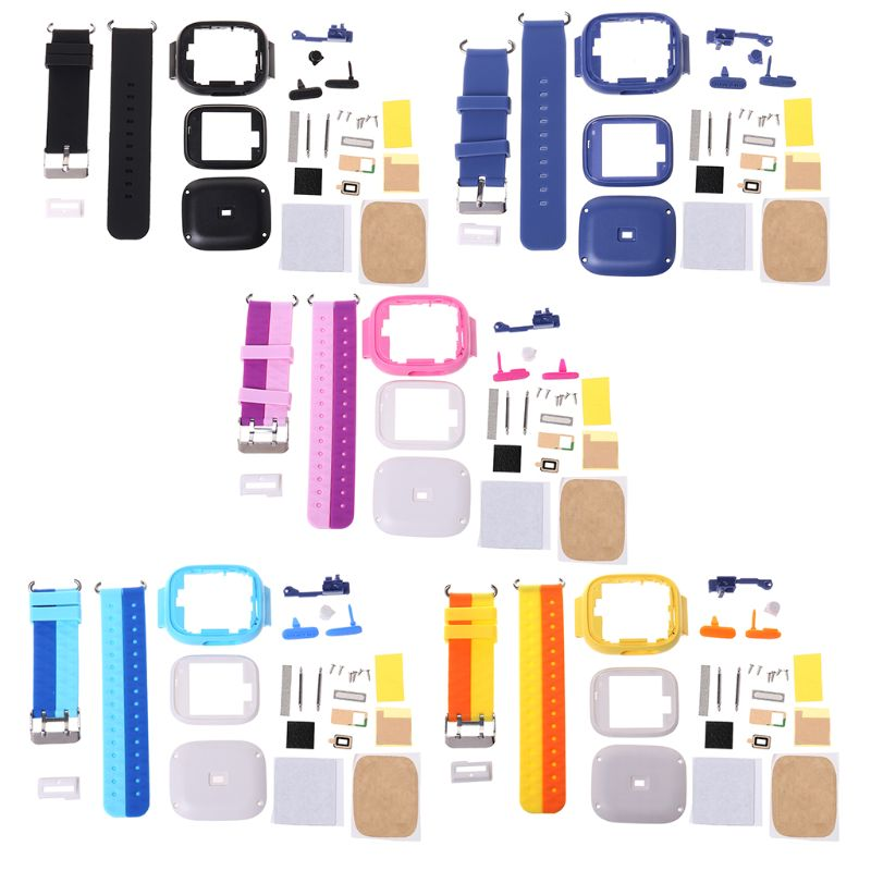 Repair Kit Silicone Watchband Case Button Metal Screws DIY Replacement For Q90 GPS Child Smart Watch Phone Position
