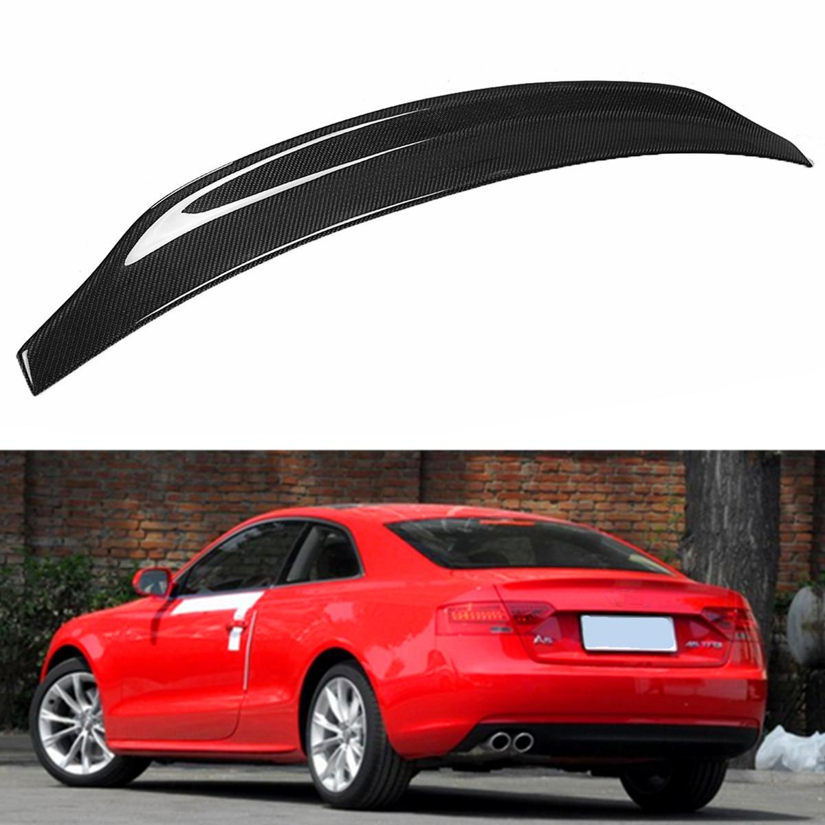 Black Rear Carbon Fiber Highkick Trunk Lid Rear Spoiler
