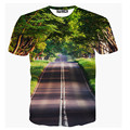 Venta caliente 2017 Del Nuevo Diseñador Del Verano 3D Camiseta Impresa de Los Hombres Camiseta de Manga Corta Creativa bosque Camiseta de Los Hombres S-XXL