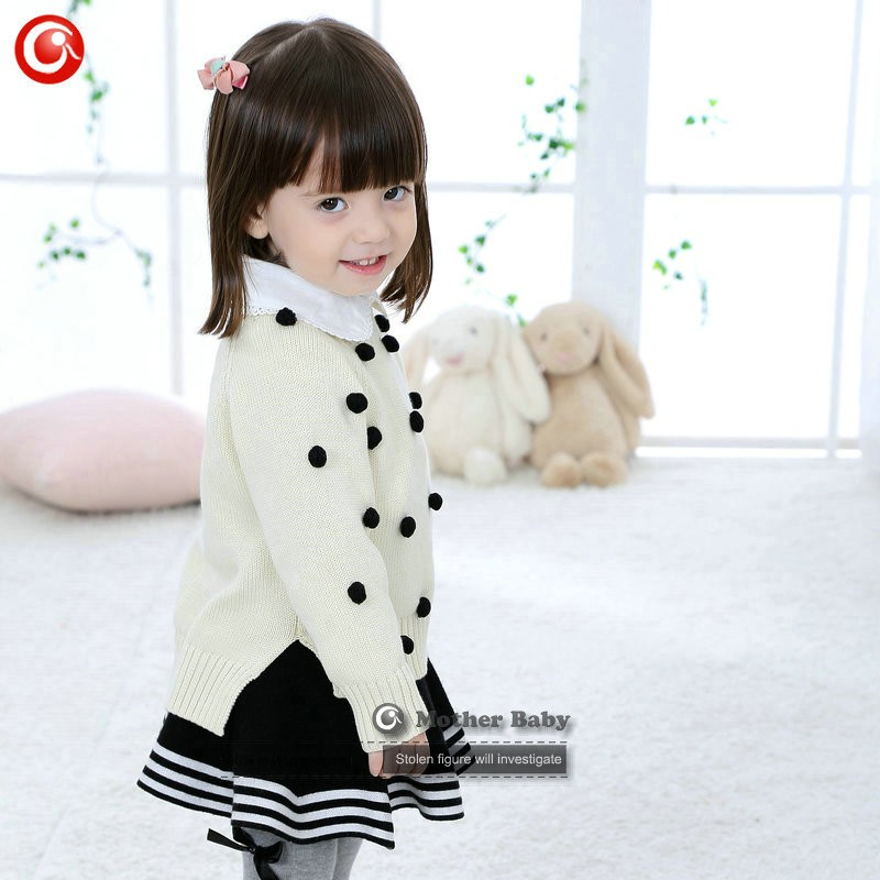 Kids Tinny Cotton Boys Sweater Children Pullover Cardigan Coat For Girls Baby Long Sleeve Knitwear Christmas Clothes With Balls (29)