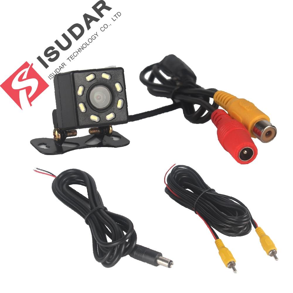 Isudar Car Rear View Camera Universal Backup Parking Camera 8 LED Night Vision Waterproof 105 Wide Angle HD Color Image 4