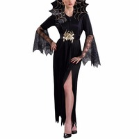 Dark Queen Vampire Halloween Costume Long Dress Cosplay Costume Perfect For Theme Parties Christmas