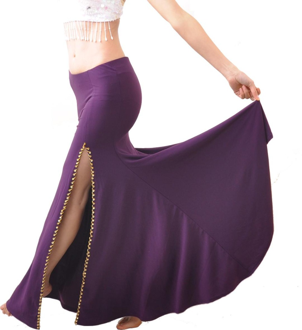 Cheap Sale New Belly Dance Costume Professional Performances Split Skirt Dress 9colors Carefully Selected Materials