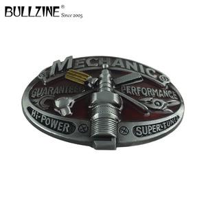 "Image 2 - Bullzine סיטונאי מערבי מכונאי כלי קאובוי ג ינס מתנת חגורת אבזם גימור בדיל FP 03643 עבור 4 ס""מ רוחב החגורה"