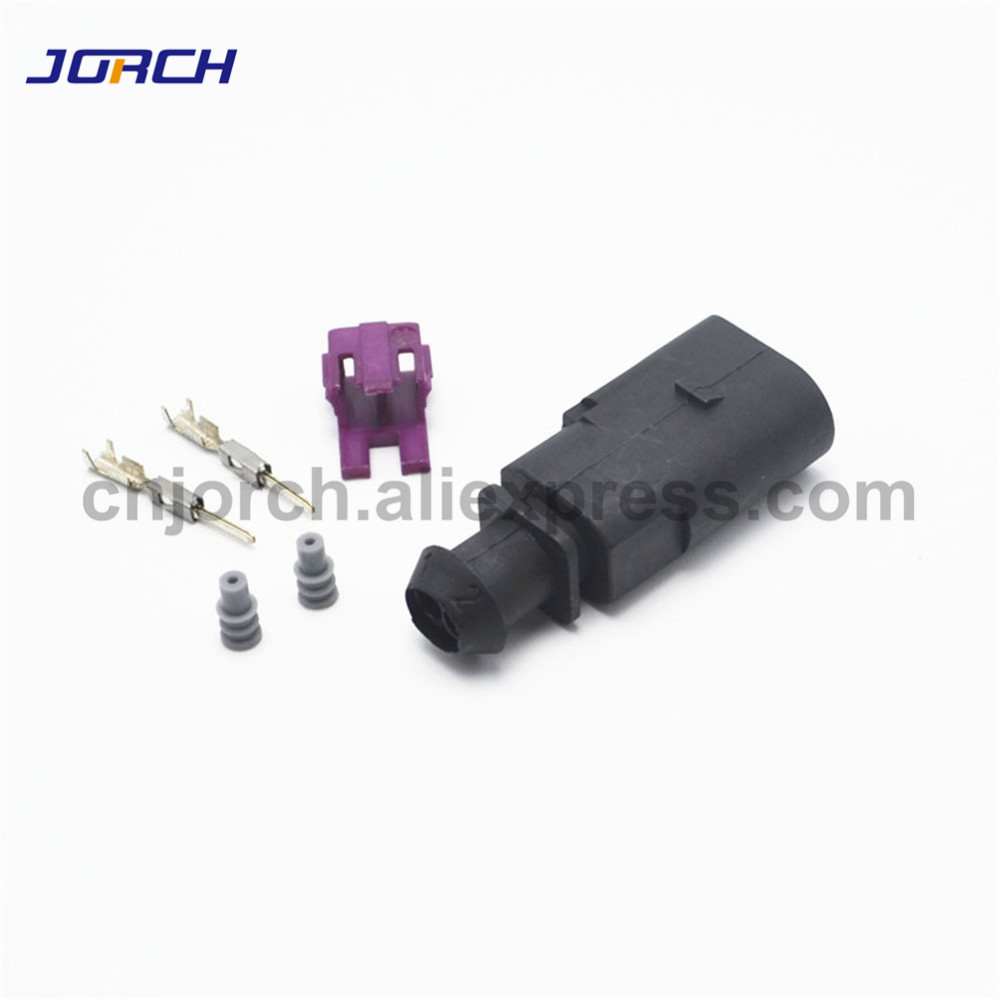 5sets 2 Pin Auto Electrical Plug Connector 1J0973802 For VW Audi Ignition Coil 1J0 973 802