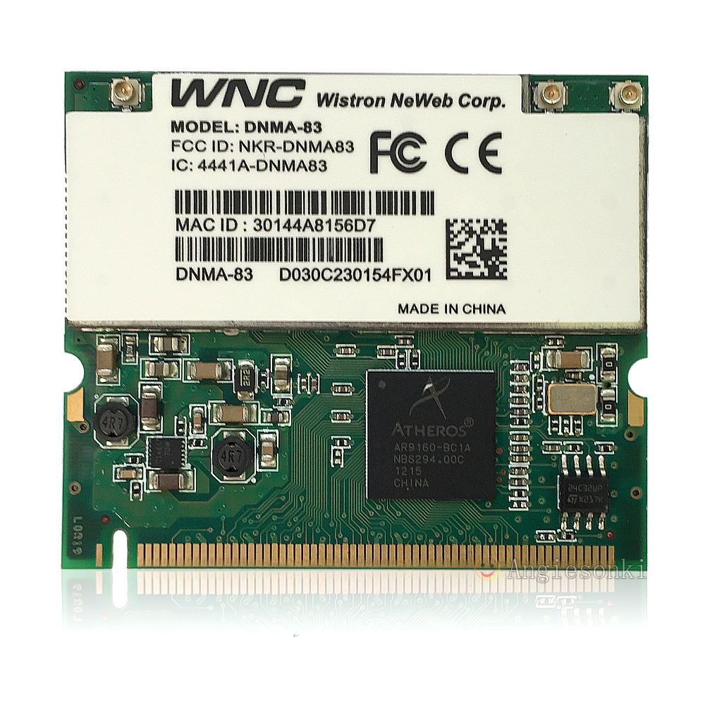 AR9160 DNMA-83 300Mbps Atheros Wi-Fi WLAN 802.11a/b/g/n MINI PCI Wireless Card Linux OS support image