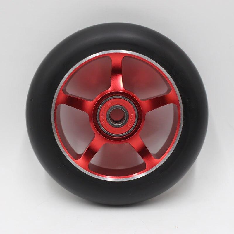 Prix pour 2 PCS (y compris ABEC-9 roulements)! Livraison gratuite! Produits Chaude! Nouveau style professionnel stunt scooter roues 110X24 MM 88A
