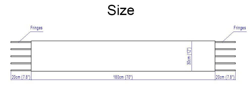 silver fox shawl size