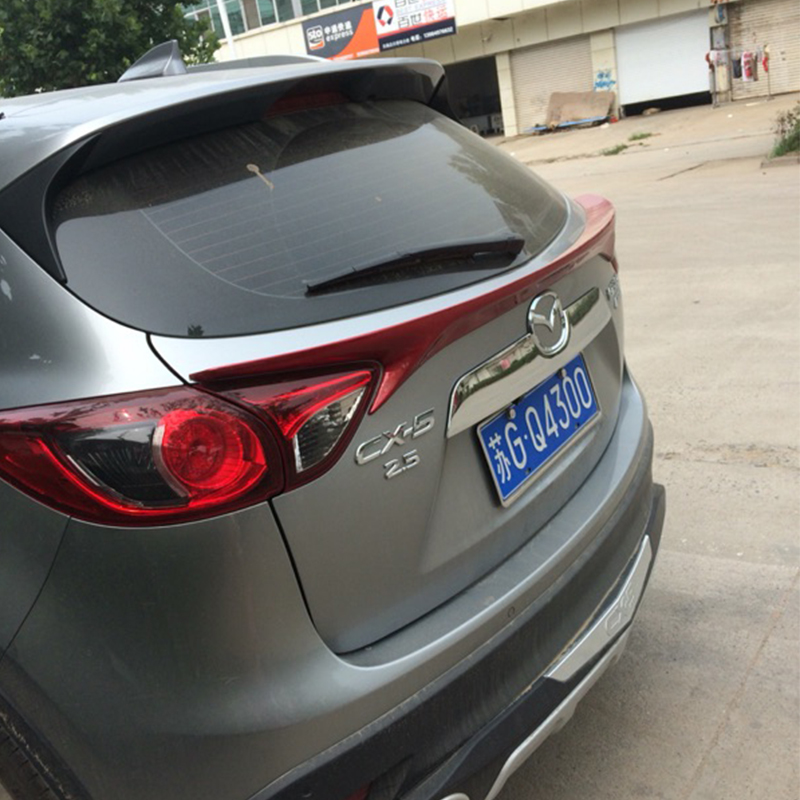 CX-5 ABS Unpainted Primer Rear Middle Spoiler Wing for Mazda CX 5 2012-2016 autoexe style real carbon fiber primer frp car rear roof spoiler wing for mazda cx 5 2 5l 2 0l cx 4 mazda 3 axela hatchback