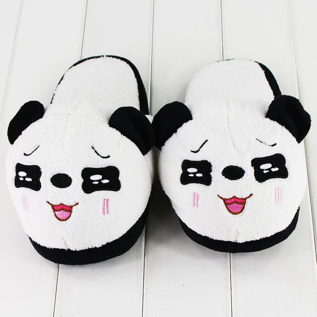 27cm Anime Plush Toys Tarepanda Plush Shoes Cute Indoor Fluffy Slippers Soft Stuffed Winter Plush Slippers Shoes