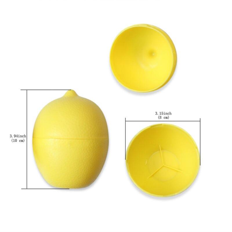 5 x Lemon Sealed Crisper Plastic Storage Refrigerator Food fruit (5)