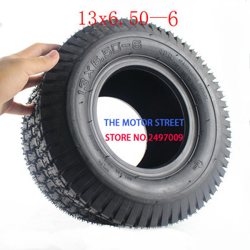 Free shipping  Tubeless Tire 13x6.50-6 for ATV QUAD Golf Buggy Mower Go-kart Lawnmowers 13x6.50-6 tire