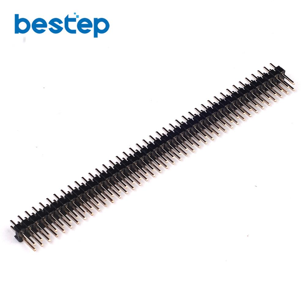 10PCS 2x40T 80Pin 2.54mm Ordinary Double Row Needles Straight Headers For PCB Connection