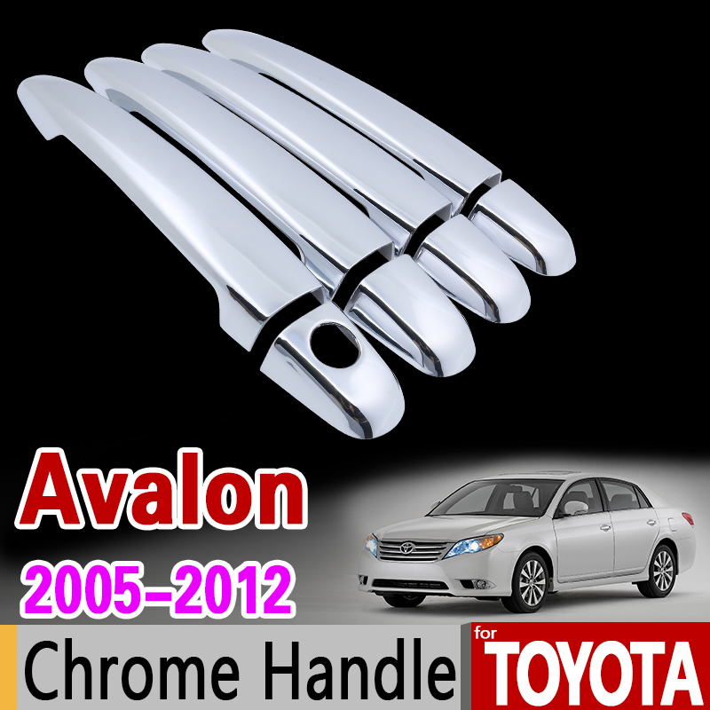 CHROME DOOR HANDLE COVERS SET//4 FIT 2005 05 2010 TOYOTA  AVALON