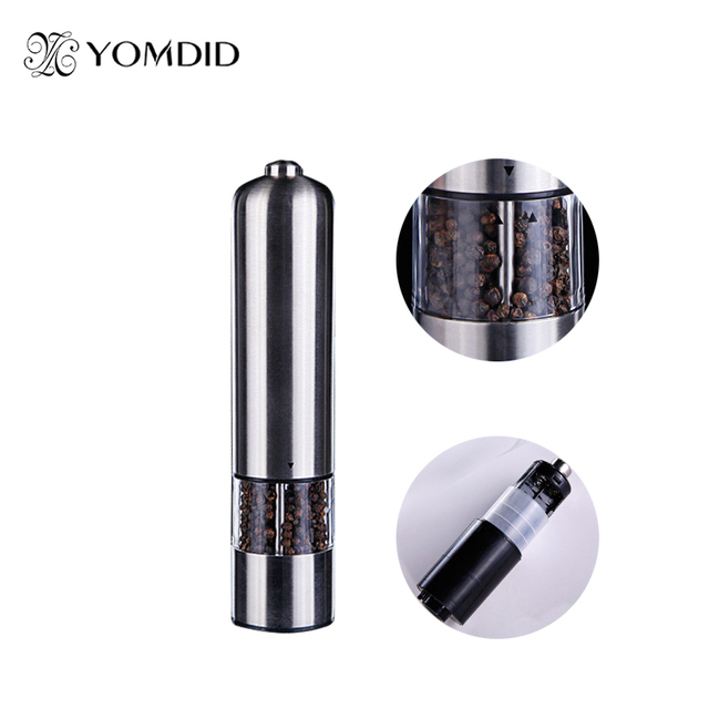 Stainless Steel Electric Salt Pepper Mill Spice Grinder Muller Kitchen Tool
