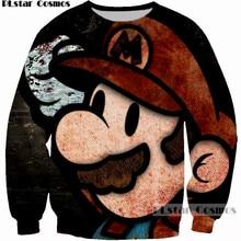 PLstar Cosmos cute cartoon men women sweatshirt 3D Print Super Mario graphic hoodies mujer/homme brand clothing 2018 sweatshirts
