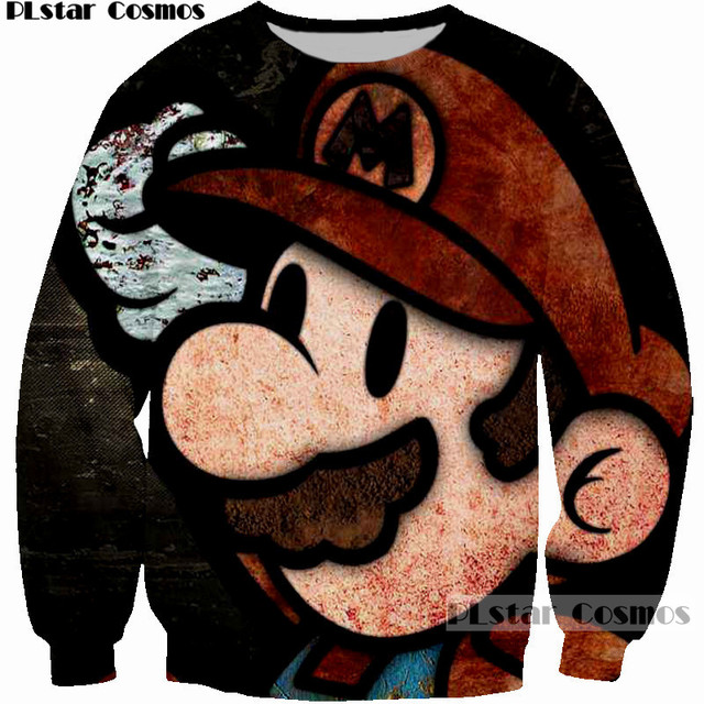 61de8fa5b93 PLstar Cosmos cute cartoon men women sweatshirt 3D Print Super Mario  graphic hoodies mujer homme brand clothing 2018 sweatshirts. Previous  Next