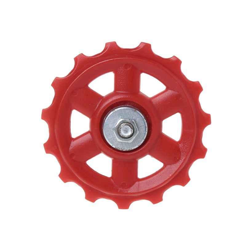 Przerzutka rowerowa tylna koła z tworzywa sztucznego 15T MTB części do roweru górskiego jazda na rowerze prowadnica rolkowa koło pasowe akcesoria do jazdy konnej