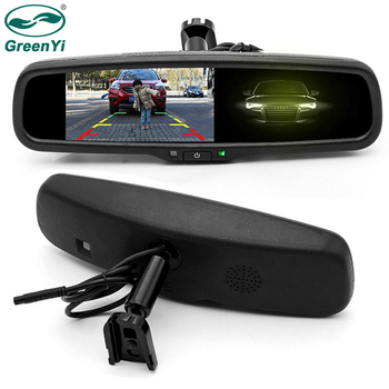 GreenYi Auto Dimming Rear View Mirror Monitor 4.3 Inch 800*480 Resolution TFT LCD Color Car Monitor Built-in Special Bracket 180sx led ヘッド ライト