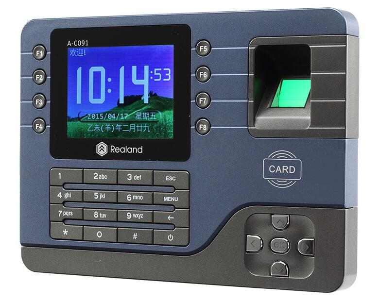 3.2inch TCP/IP/USB Biometric Fingerprint Reader Time Clock Recorder Finger Attendance Employee Machine Realand EM card A C091
