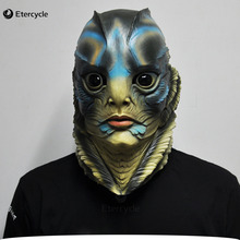 The Shape of Water Mask Cosplay Merman Latex Mask Movie Props Halloween Party Mask printio форма воды the shape of water
