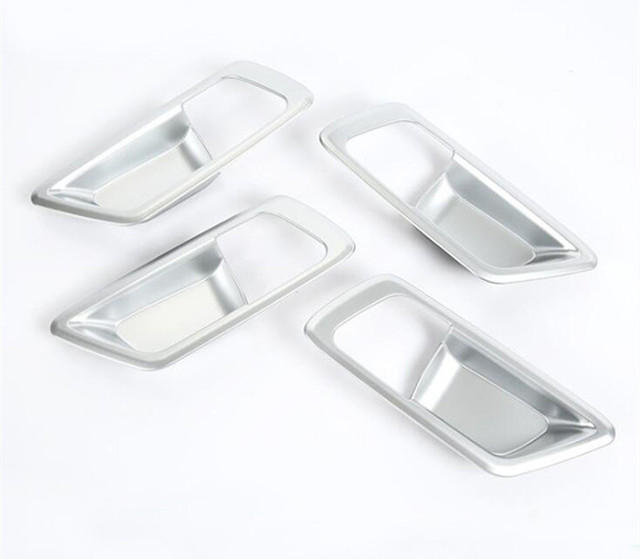 Free shipping car styling body cover stick trim door inner handle bowl frame lamp accessory 4pcs For TOYOTA C-HR CHR 2017 2018