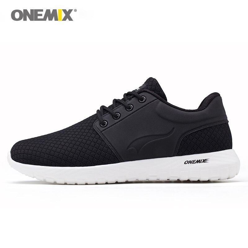 Onemix кроссовки для мужчин воздухопроницаемой сеткой женские спортивные кроссовки Lightweight Lace-Up Sneaker для уличная походная обувь
