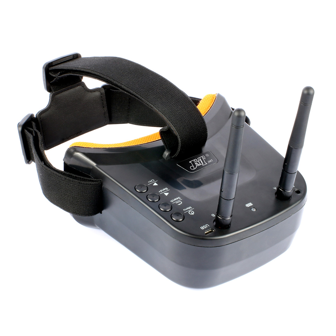JMT Mini FPV Goggles 3 inch 480 x 320 Display Double Antenna 5.8G 40CH 3.7V 1200mAh Battery FPV System for RC Drone Mode цена и фото